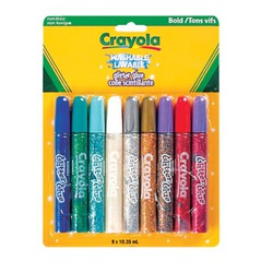 Crayola 9 color washable glitter glue
