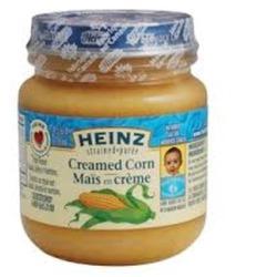 Heinz creamed corn baby food
