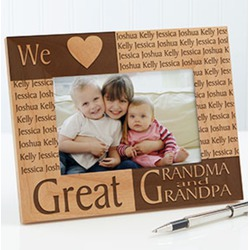 Great grandparent personalized frame