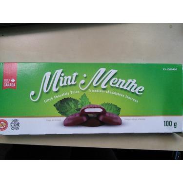 Dollarama mint filled chocolaty thins