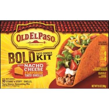 Old El Paso Bold Nacho Cheese Taco Shells