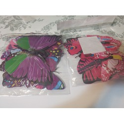 ElecMotive 24 Pcs 2 Packs Beautiful 3D Butterfly Wall Decals