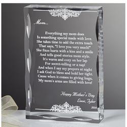 Dearest mother poem personalized keepsake