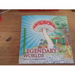 Legendary Worlds: Adult Coloring Book