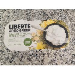 Liberte Greek Seeds And Fruit Yogurt- Pineapple & Banana
