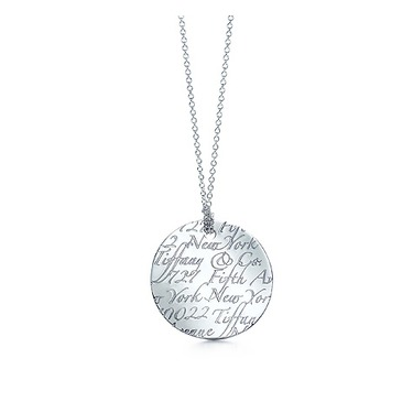 Tiffany Notes Pendant Necklace