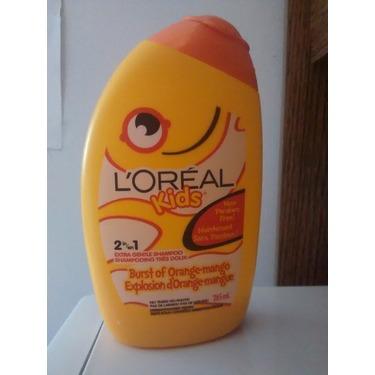 l'oreal kids 2 in 1 extra gentle shampoo burst of orange-mango