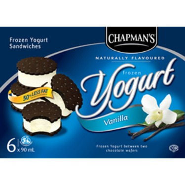 Chapman's Frozen Yogurt Sandwiches