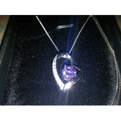 J.Rosée Sterling Silver Cubic Zirconia Heart Shape Pendant Necklace