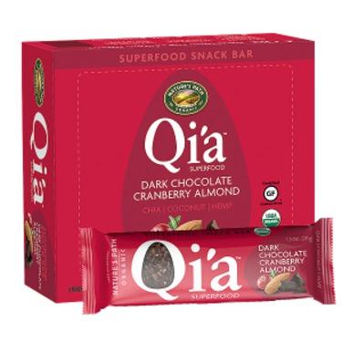 Qi'a Superfood Snack Bar - Dark Chocolate Cranberry Almond