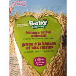 Baby gourmet banana raisin oatmeal