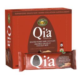 Qia Roasted Peanut Dark Chocolate Superfood Bar