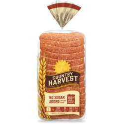 country harvest no sugar added bread