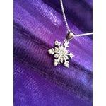 J.Rosée 925 Cubic Zirconia Cute Snowflake Pendant Necklace