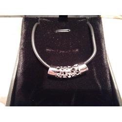 J.Rosée Sterling Silver PU Leather Stretch Valentine Friendship Pendant