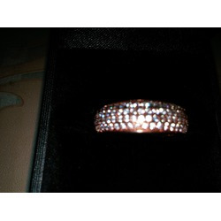 J.Rosée 18K Rose Gold Plated Cubic Zirconia Engagement Ring Band