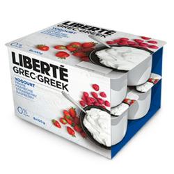 Liberte Raspberry and Strawberry Greek Yogurt