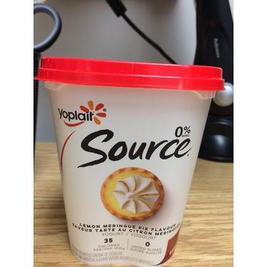 Yoplait Source Lemon Meringue Pie Yogurt