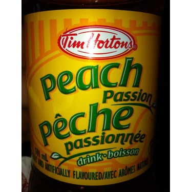 Peach passion drink from Tim Hortons