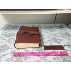 "Leather Blank Journal Sketchbook 6"" X 8"" Vintage Notebook"