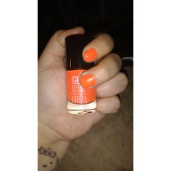 Gel Effects Nail Lacquer Safety Orange
