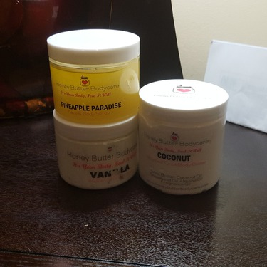 Honey Butter Body Care Face and Body Scrub  Pineapple