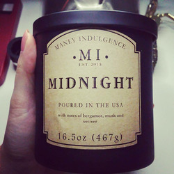 Manly Indulgence candle in Midnight