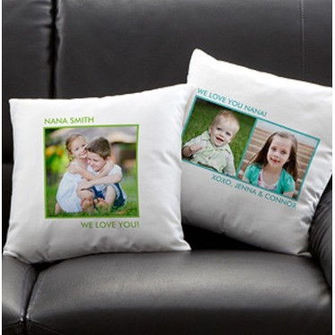 Picture perfect personalized keepsake pillow