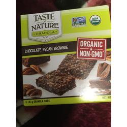 Taste of Nature Chocolate Pecan Brownie Granola Bar