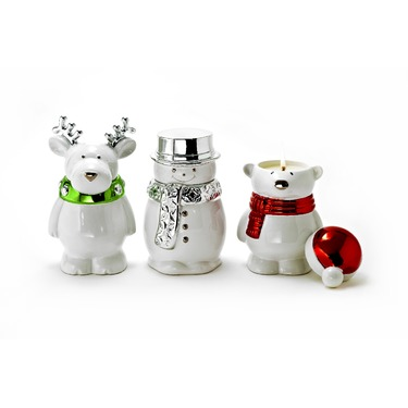 Slatkin & Co. Festive Friends Scented Candles