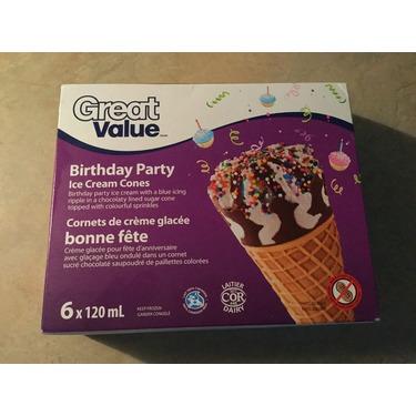 Great value birthday party ice cream cones