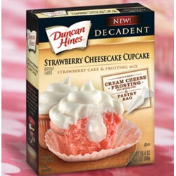 Duncan Hines strawberry cheesecake cupcakes