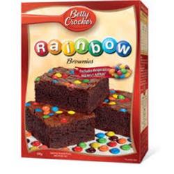 Betty Crocker rainbow brownies