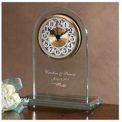 Everlasting love engraved clock