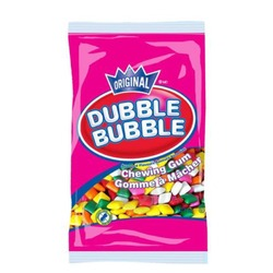 Double bubble chewing gum pieces