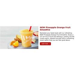 Tim Hortons Orange Pineapple Smoothie