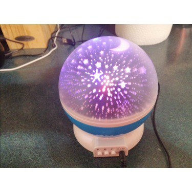 Ecandy 360 Degree Rotating 3 Mode Star Light Projector