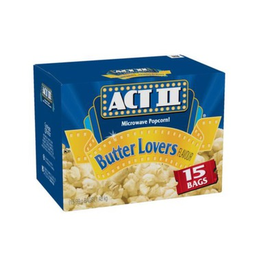 Act 2 popcorn butter lovers