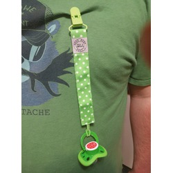 Pacifier Clip Holder by Blulu Rainbow Color, 7 Pack