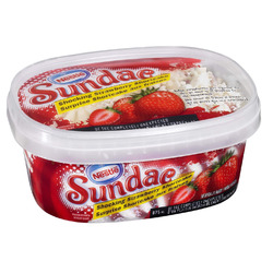 Nestle sundae shocking strawberry shortcake