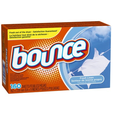 Bounce dryer sheets fresh linen