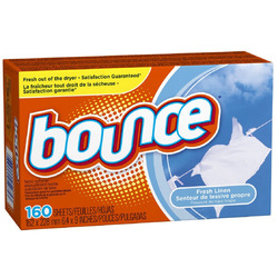 Bounce dryer sheets fresh linen