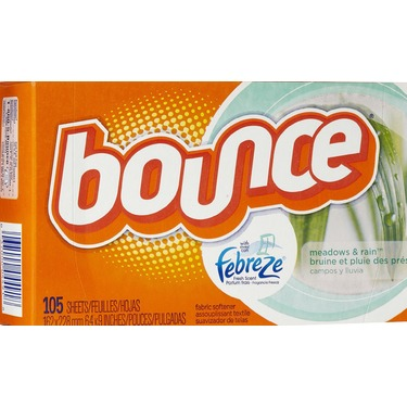 Bounce sheets with febreze