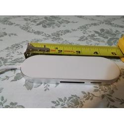 TurnRaise Ultra-Slim Premium 3 Port Aluminum USB 3.0 Hub with Multi-In-1 Card Reader
