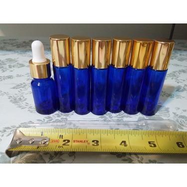 VROSELV Roll on Bottles (Pack of 6) 10ml with Golden Cap