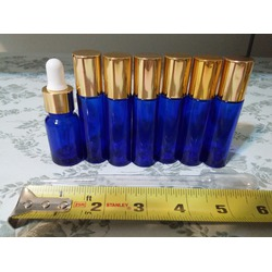 VROSELV Roll on Bottles (Pack of 6) 10ml with Golden Cap