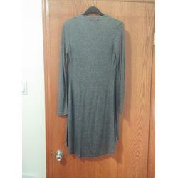 VESSOS Women Long Sleeve Waterfall Asymmetric Drape Open Long Maxi Cardigan