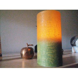 DFL 3x6 Inch linen pattern Flameless Real Wax Pillar Led Candle With Timer