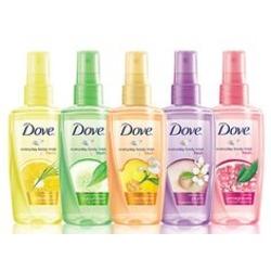 Dove Energizing Body Mist 3 Fl Oz Spray Bottle