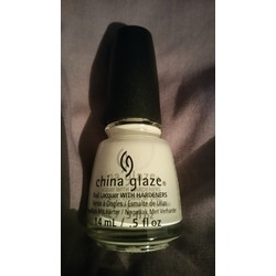 "China Glaze ""white on white"""